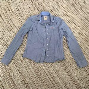 Hollister Pinstripe Button Up Shirt